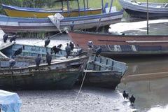 Boat abandoned Stock Photo