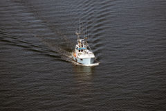 Boat from above Royalty Free Stock Photos