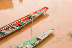 Boat across the Mekong River Royalty Free Stock Photos