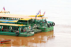 Boat across the Mekong River Royalty Free Stock Photo