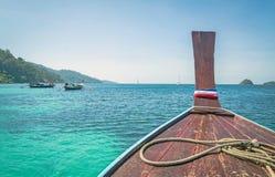 Boat at Adang Island , Andaman sea , the southern of Thailand Royalty Free Stock Images