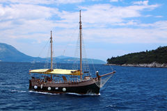 Boat in Adriatic sea Stock Image