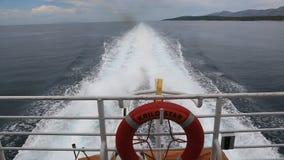 Boat on the Adriatic sea stock video