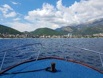 On the boat in Adriatic sea Royalty Free Stock Photos