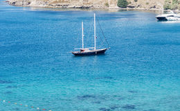 Boat in the Aegean Sea near Bodrum,Turkey Stock Photos