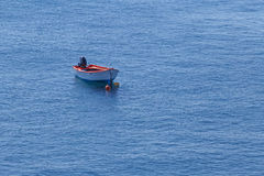Boat in Aegean sea Royalty Free Stock Images