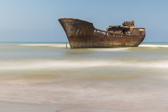 Boat aground. Royalty Free Stock Photo