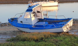Boat aground Royalty Free Stock Photography