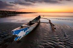 Boat. At Akkarena beach Stock Photography