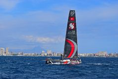 Team Scallywag Volvo Ocean Race Alicante 2017. The boat in Alicante bay on the first leg of the round the World race Royalty Free Stock Photos