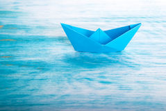 Boat alone in the Sea Stock Images