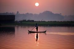 Boat in Amarapura Stock Images