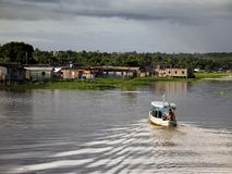 Boat in the Amazônia Royalty Free Stock Photo