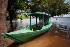 Boat on Amazon River Royalty Free Stock Photo