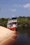 Boat on Amazon River Royalty Free Stock Photography