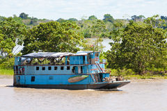 Boat on the Amazon royalty free stock image