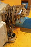 Boat anchor chain Royalty Free Stock Photo