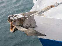 Boat anchor details Royalty Free Stock Photos
