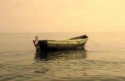 Boat at anchor in sea Royalty Free Stock Image