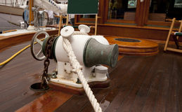 Boat anchor winch Royalty Free Stock Photos
