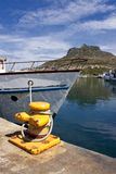 Boat anchored in the harbour. Royalty Free Stock Images