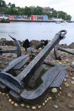 Boat anchors at Tobermory harbour Stock Photos