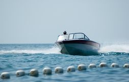 Boat And Wake Royalty Free Stock Photo
