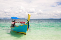 Boat on andaman beach Royalty Free Stock Photos