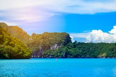 Boat in andaman sea Phi Phi Islands Krabi Thailand. Stock Photography