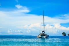 The boat in andaman sea Phi Phi Islands Krabi Thailand. Stock Photo