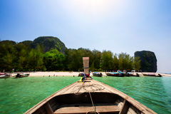 Boat in andaman sea Stock Images