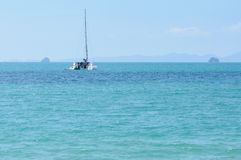Boat on Andaman sea, Thailand Royalty Free Stock Images