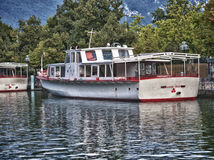 boat in Annecy France Royalty Free Stock Images