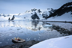 Boat in Antarctica Royalty Free Stock Images