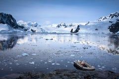 Boat in Antarctica Stock Photo
