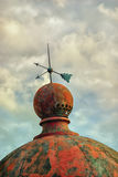 Boat with arrows on the lighthouse dome stock image