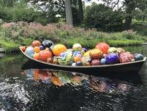 Boat art Bronx Botanical Gardens stock image