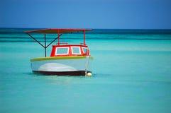 Boat in Aruba stock photography