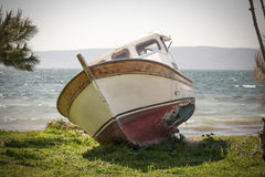 The boat ashore Royalty Free Stock Photo