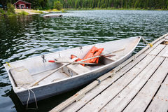 Boat At Dock In Lake Royalty Free Stock Image