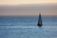 Boat in the Atlantic ocean at the evening Royalty Free Stock Photo
