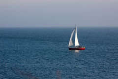 Boat in the Atlantic ocean at the evening Royalty Free Stock Images