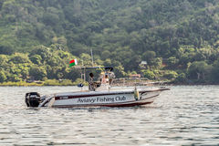 Boat of the Aviavy Fishing Club Nosy Be Madagascar Royalty Free Stock Photos