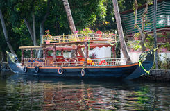 Boat in backwaters. In alappuzha, Kerala, India Stock Photography