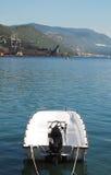 Boat in Bakar Harbour Stock Photo