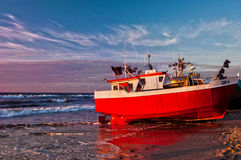 Boat on Baltic beach Stock Photography