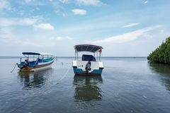 Boat on Bama Beach Banyuwangi Indonesia. This photo taken in Baluran National Park, East Java, Indonesia Royalty Free Stock Photography