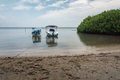 Boat on Bama Beach Banyuwangi Indonesia. This photo taken in Baluran National Park, East Java, Indonesia Stock Photography