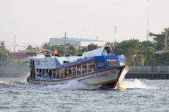 Boat in bangkok city Royalty Free Stock Images