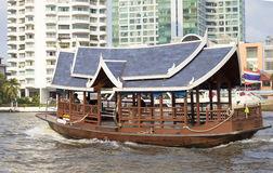 Boat in bangkok city Royalty Free Stock Image
